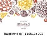 horizontal fast food design.... | Shutterstock .eps vector #1166136202