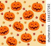 halloween pumpkin. festival... | Shutterstock .eps vector #1166137282