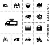 deliver icon. collection of 13... | Shutterstock .eps vector #1166137648