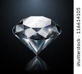 dazzling diamond on black... | Shutterstock .eps vector #116614105