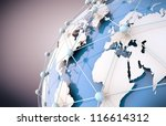 3d image of blue networking and ... | Shutterstock . vector #116614312