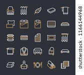 bedding flat line icons.... | Shutterstock .eps vector #1166144968
