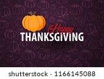 autumn backgrounds with pumpkin.... | Shutterstock .eps vector #1166145088