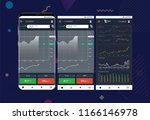 mobile stock trading concept....