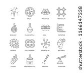 set of 16 simple line icons... | Shutterstock .eps vector #1166147338