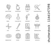 set of 16 simple line icons... | Shutterstock .eps vector #1166147398
