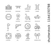 set of 16 simple line icons... | Shutterstock .eps vector #1166150788