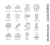set of 16 simple line icons... | Shutterstock .eps vector #1166150842