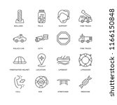 set of 16 simple line icons... | Shutterstock .eps vector #1166150848