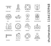 set of 16 simple line icons... | Shutterstock .eps vector #1166150968