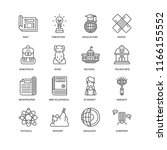 set of 16 simple line icons... | Shutterstock .eps vector #1166155552