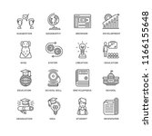 set of 16 simple line icons... | Shutterstock .eps vector #1166155648