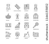 set of 16 simple line icons... | Shutterstock .eps vector #1166155852