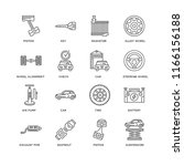 set of 16 simple line icons... | Shutterstock .eps vector #1166156188