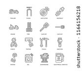 set of 16 simple line icons... | Shutterstock .eps vector #1166156218
