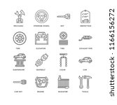 set of 16 simple line icons... | Shutterstock .eps vector #1166156272
