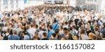 crowd of people | Shutterstock . vector #1166157082