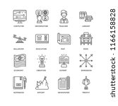 set of 16 simple line icons... | Shutterstock .eps vector #1166158828
