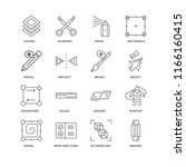 set of 16 simple line icons... | Shutterstock .eps vector #1166160415