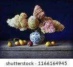 still life with hydrangea in...   Shutterstock . vector #1166164945