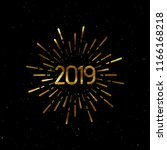 happy 2019 new year. holiday... | Shutterstock .eps vector #1166168218
