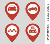 map pin location icons set on... | Shutterstock .eps vector #1166170078