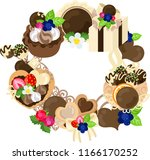 the frame that is made with... | Shutterstock .eps vector #1166170252