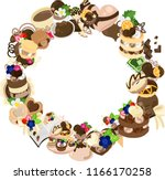 the frame that is made with... | Shutterstock .eps vector #1166170258