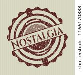 red nostalgia rubber grunge... | Shutterstock .eps vector #1166170888