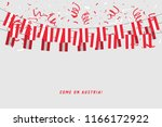 austria garland flag with... | Shutterstock .eps vector #1166172922