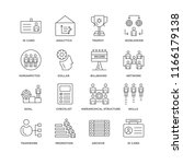 set of 16 simple line icons... | Shutterstock .eps vector #1166179138