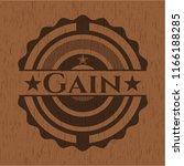 gain retro style wood emblem | Shutterstock .eps vector #1166188285