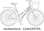 isolated icon of womens bike... | Shutterstock .eps vector #1166194795
