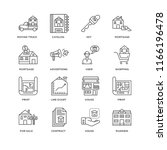 set of 16 simple line icons...   Shutterstock .eps vector #1166196478