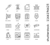 set of 16 simple line icons...   Shutterstock .eps vector #1166196625
