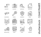 set of 16 simple line icons...   Shutterstock .eps vector #1166196685