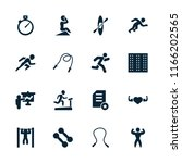 training icon. collection of 16 ... | Shutterstock .eps vector #1166202565
