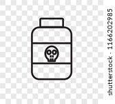 poison vector icon isolated on... | Shutterstock .eps vector #1166202985