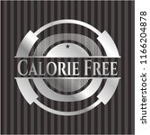 calorie free silvery shiny badge | Shutterstock .eps vector #1166204878