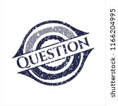 blue question distressed rubber ... | Shutterstock .eps vector #1166204995