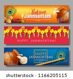 horizontal greeting banners for ... | Shutterstock .eps vector #1166205115