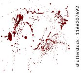set of realistic bloody... | Shutterstock .eps vector #1166207692