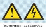 high voltage sign and danger... | Shutterstock .eps vector #1166209072