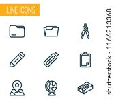 tool icons line style set with... | Shutterstock . vector #1166213368