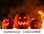 terrifying symbols of halloween ... | Shutterstock . vector #1166214808