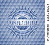 confidential blue hexagon... | Shutterstock .eps vector #1166215375