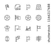 collection of 16 usa outline...