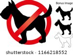no dog sign   Shutterstock .eps vector #1166218552