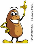 cartoon style potato character  ... | Shutterstock .eps vector #1166225428