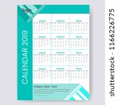 one page calender design.... | Shutterstock .eps vector #1166226775